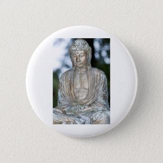 Gold Buddha Statue 2 Inch Round Button
