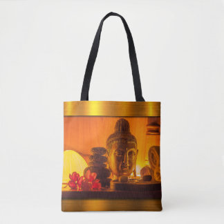 Gold Buddha Tote Bag