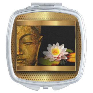 Gold Buddha With Lotus Flower Vanity Mirror