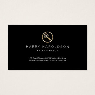 Gold Bug Icon Home Exterminator Business Card