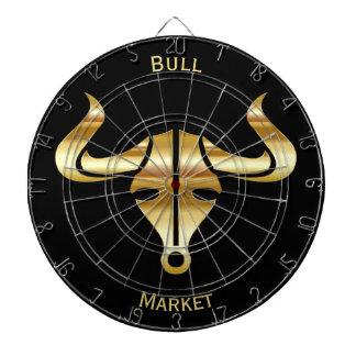 Gold Bull Bull Market Dartboard