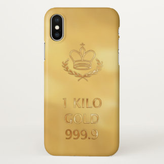 Gold Bullion Bar iPhone X Case