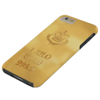 Gold Bullion Bar Tough iPhone 6 Plus Case