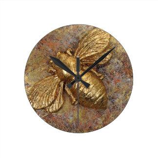 Gold Bumblebee Wall Clock