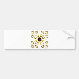 Gold Bumper Sticker