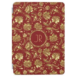 Gold & Burgundy Floral Damasks iPad Air Cover
