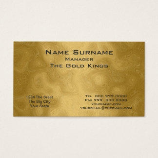 Gold business  Business Card