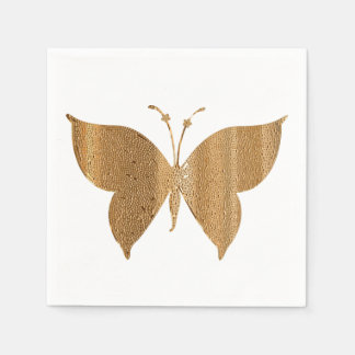 Gold Butterfly Cocktail Napkins Paper Napkins