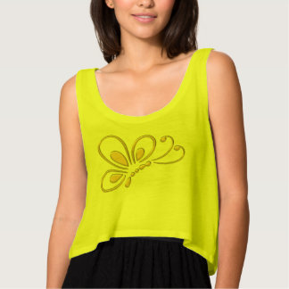 Gold Butterfly Profile Tank Top