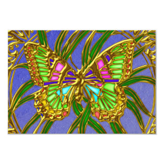 "Gold Butterfly RSVP Wedding Invitation 3.5"" X 5"" Invitation Card"