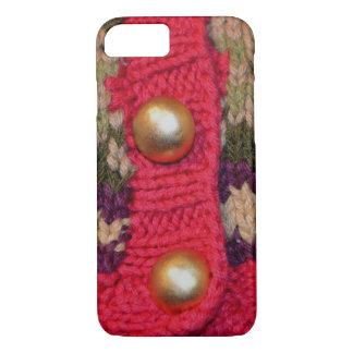Gold Buttons Sweater iPhone 7 Case