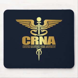 Gold Caduceus (CRNA) Mouse Pad