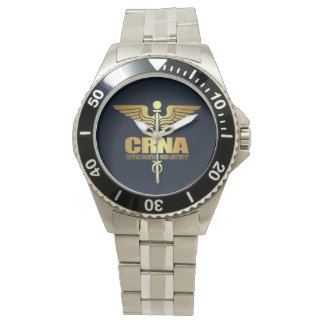 Gold Caduceus (CRNA) Watch