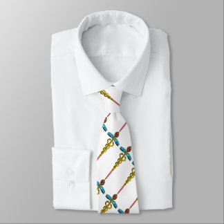 GOLD CADUCEUS,DOCTOR MEDICAL SYMBOL , White Tie