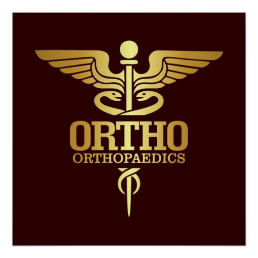 Gold Caduceus (ORTHO) Poster