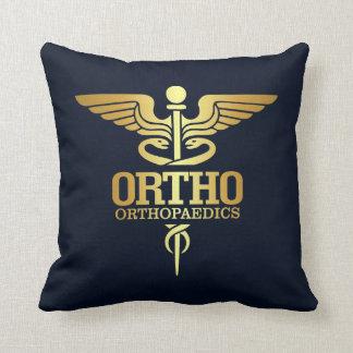Gold Caduceus (ORTHO) Throw Pillow