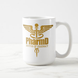 Gold Caduceus (PharmD) Coffee Mug