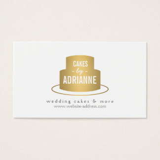 Gold Cake Logo I for Bakery, Cafe, Chef Business Card