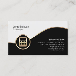 Bookkeeping business cards profile cards zazzle ca gold calculator icon bookkeeper business card colourmoves
