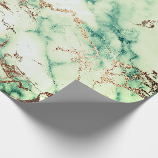 Gold Cali Mint Mediterranea Green Marble Stone Wrapping Paper