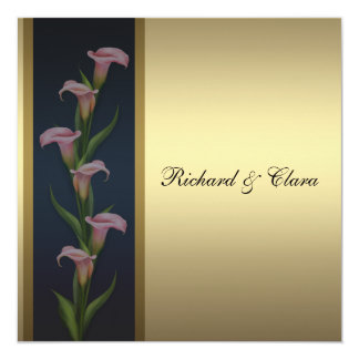 Gold Calla Lily 50th Golden Anniversary Card