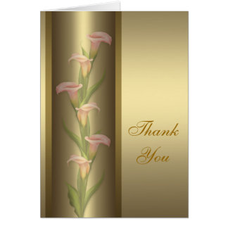 Gold Calla Lily Thank You Card
