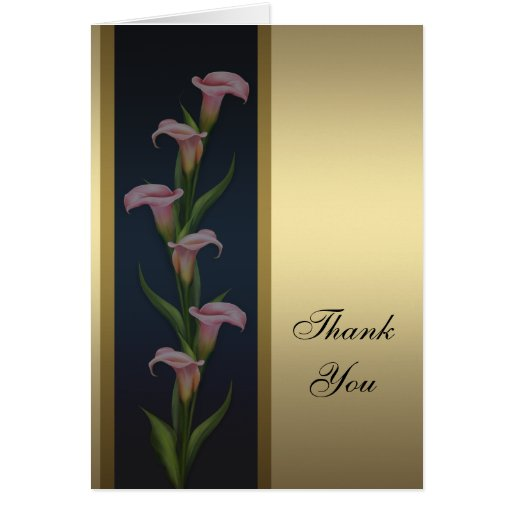 Gold Calla Lily Thank You Cards