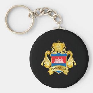 Gold Cambodia Keychain