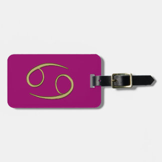 gold cancer luggage tag