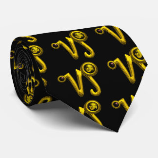 GOLD CAPRICORN ZODIAC JEWEL , Black Tie