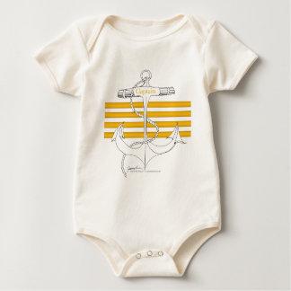 gold captain, tony fernandes baby bodysuit