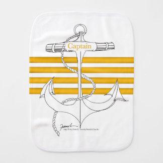 gold captain, tony fernandes burp cloth
