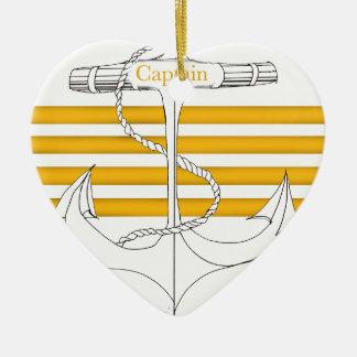 gold captain, tony fernandes ceramic ornament