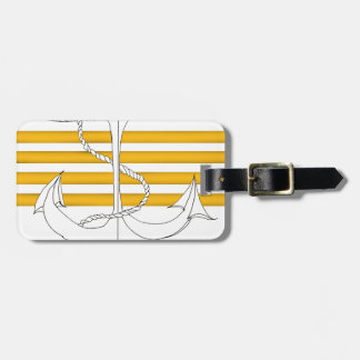 gold captain, tony fernandes luggage tag
