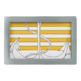 gold captain, tony fernandes rectangular belt buckle