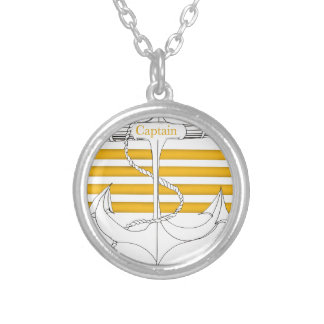 gold captain, tony fernandes silver plated necklace