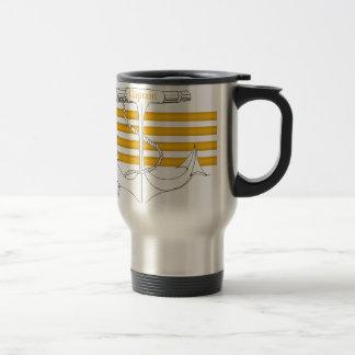 gold captain, tony fernandes travel mug