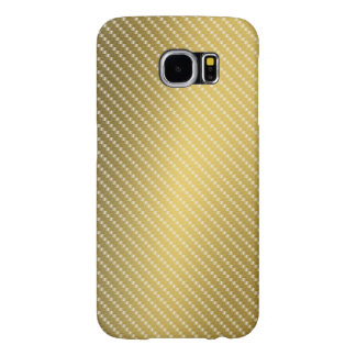 Gold Carbon Fibre Pattern Base Samsung Galaxy S6 Cases