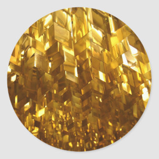 Gold Ceiling Abstract Art Classic Round Sticker