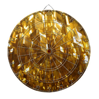Gold Ceiling Abstract Art Dartboard