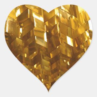 Gold Ceiling Abstract Art Heart Sticker