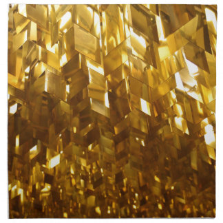 Gold Ceiling Abstract Art Napkin