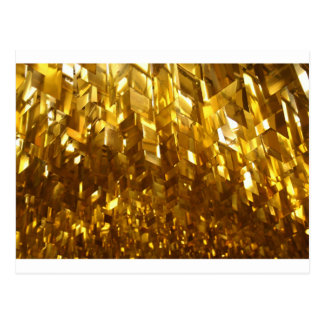 Gold Ceiling Abstract Art Postcard