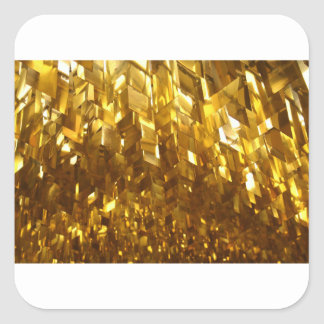 Gold Ceiling Abstract Art Square Sticker