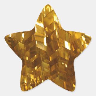 Gold Ceiling Abstract Art Star Sticker