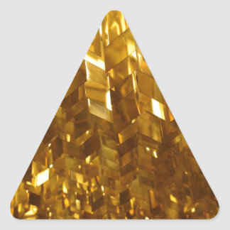 Gold Ceiling Abstract Art Triangle Sticker
