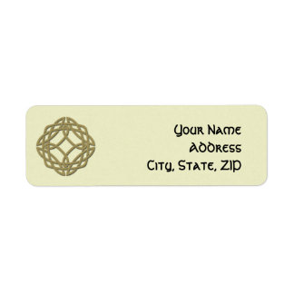 Gold Celtic Eternity Knot Return Address Label