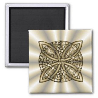 Gold Celtic Knot Original Artistic Design Fridge Magnet