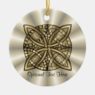 Gold Celtic Knot Original Artistic Design Ornaments