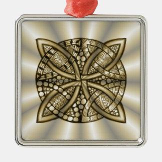 Gold Celtic Knot Original Artistic Design Christmas Tree Ornaments